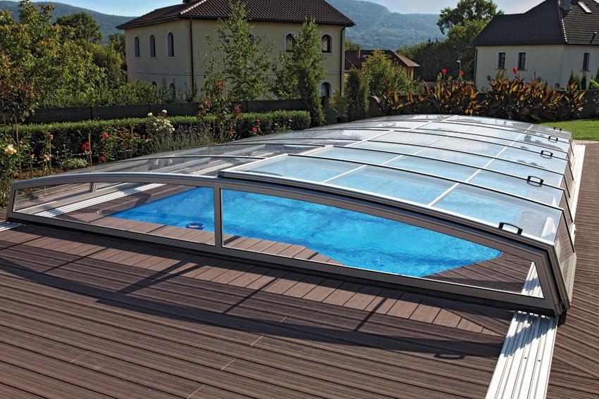 Aquacomet visual pool enclosure for Swimming pool enclosures prices