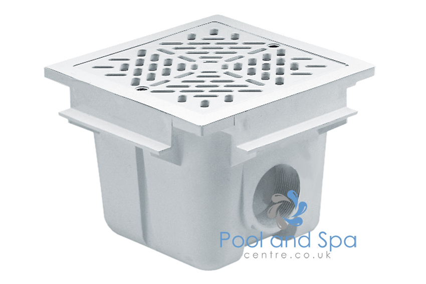 Astral Pool Square Main Drain With Abs Grille 175 Mm X 175 Mm Outlet Of 2 Inch Www