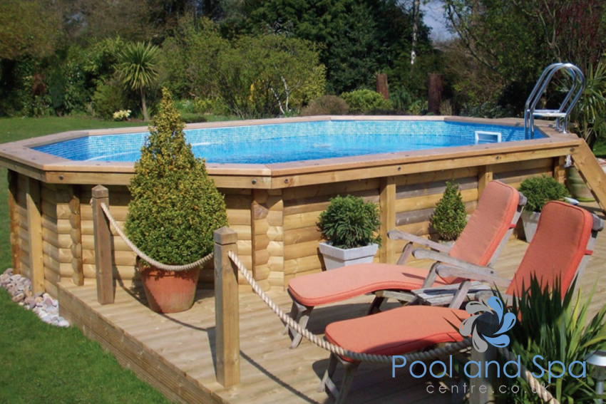 Deluxe wooden pools for Koi pool and sauna