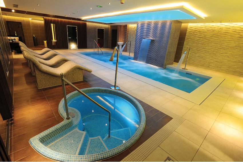 Certikin snail plunge pool for Koi pool and sauna
