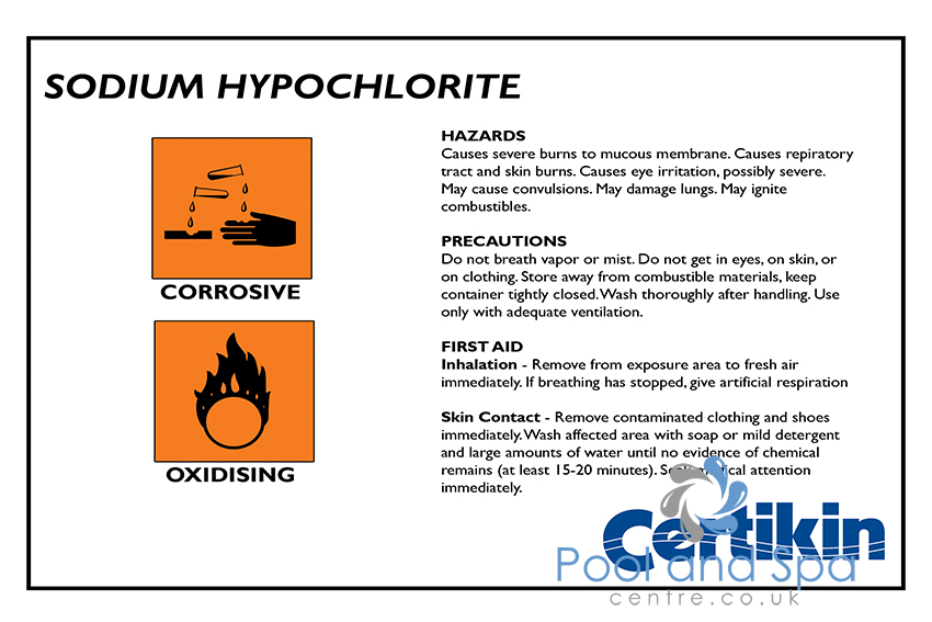 Certikin Tank Safety Labels Www Poolandspacentre Co Uk
