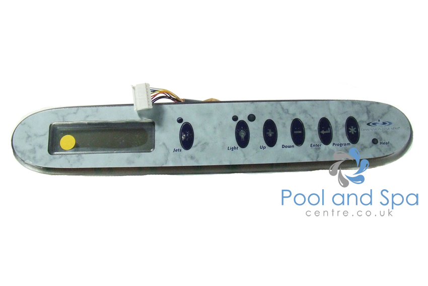 Dimension one spas upper control panel 01560 310 tsc for Dimension one spas
