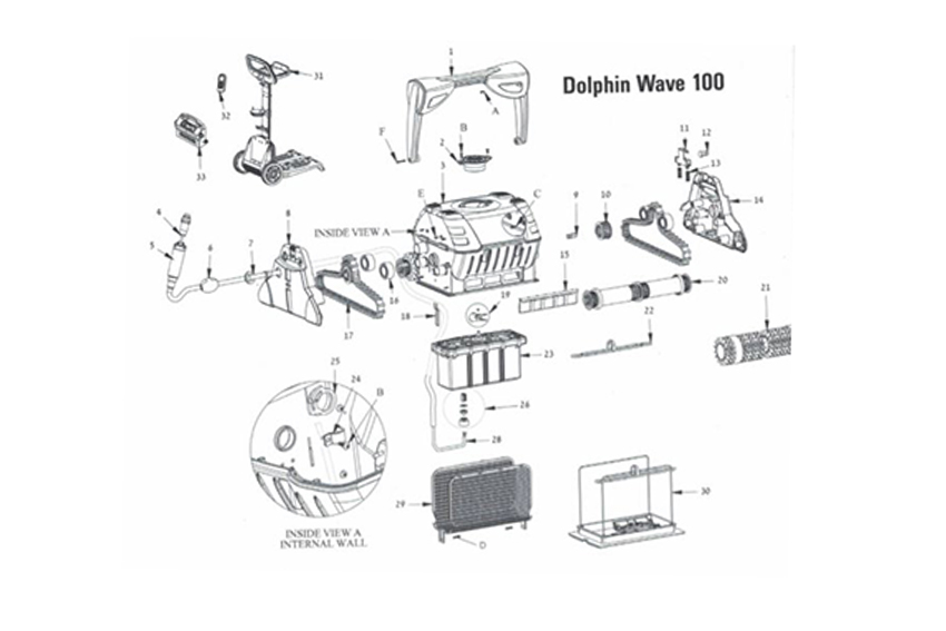 Dolphin Wave 100 Spare Parts Www Poolandspacentre Co Uk