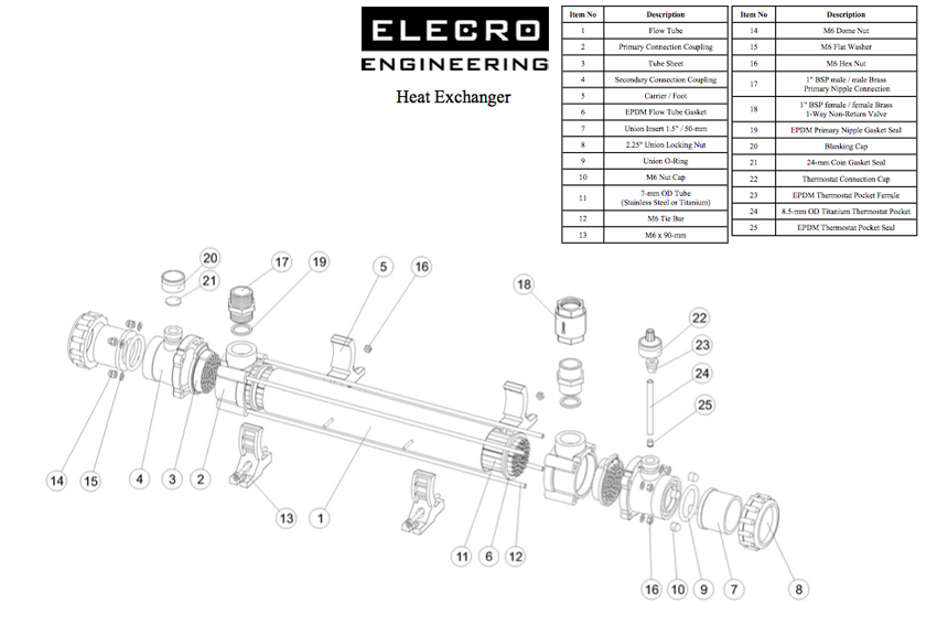 Elecro Vulcan Heat Exchanger Spare Parts Www