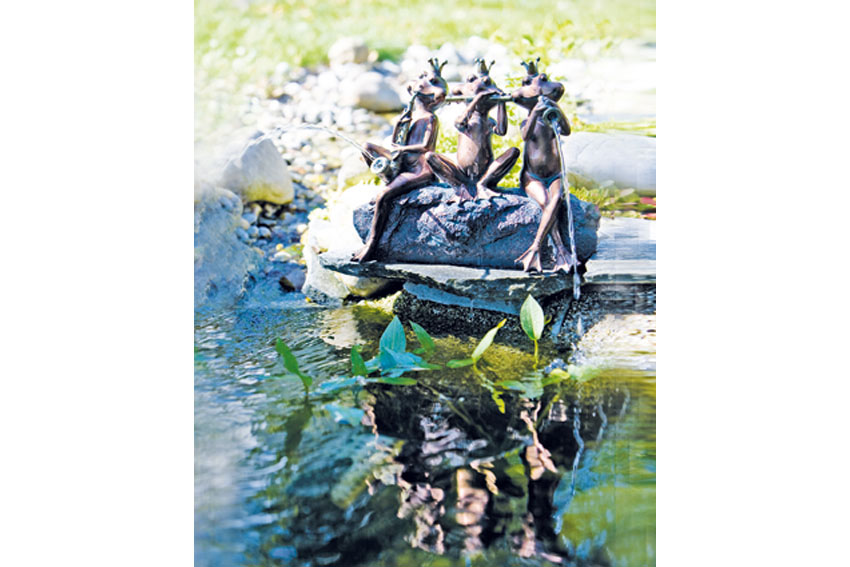 Heissner decorative pond ornaments figurines www for Decorative fish pond covers