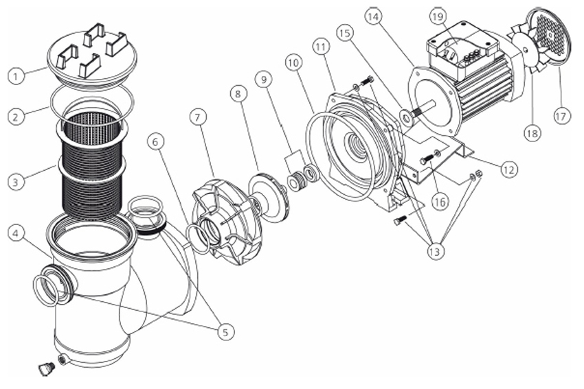 Hydroair Spare Parts Av Pump Www Poolandspacentre Co Uk