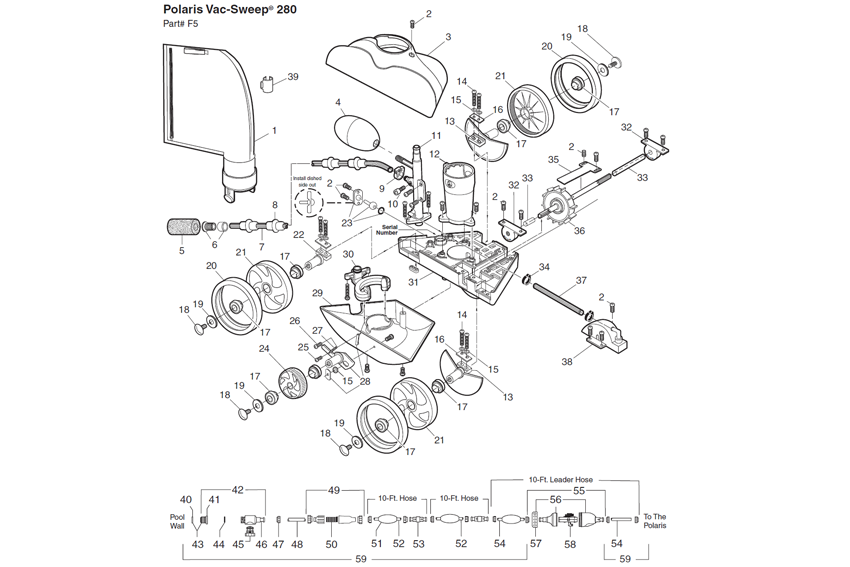 polaris spare parts for polaris 280