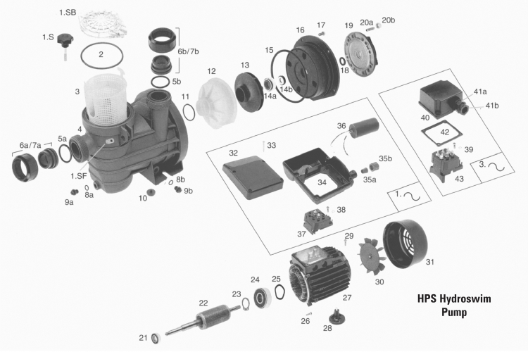Spare Parts For Hps Hydroswim Pool Pump Www